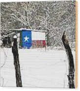 Texas Snow Wood Print