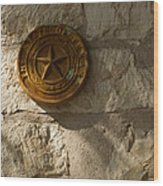Texas State Seal Wood Print