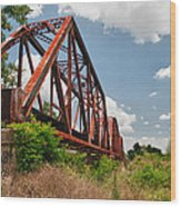 Texas Train Trestle 13984c Wood Print