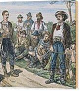 Texas Vigilantes, C1881 Wood Print