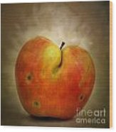 Textured Apple Wood Print by Bernard Jaubert