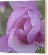 Textured Flowerr Wood Print
