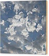 Textured Skies Wood Print