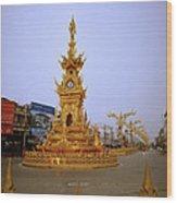 Thai Clock Tower  Wood Print