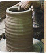 Thai Earthenware Wood Print