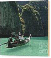 Thai Long Tail Boat  Wood Print