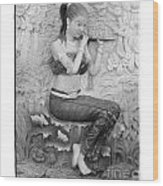 Thai Style Bas-relief Decorated On  Wall  Wood Print