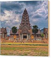 Thai Temple Wood Print