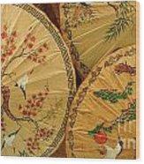 Thai Umbrellas 2 Wood Print