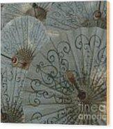 Thai Umbrellas 3 Wood Print