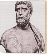 Thales, Ancient Greek Philosopher Wood Print by Photo Researchers