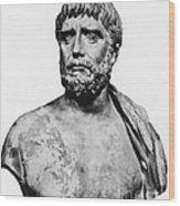 Thales, Ancient Greek Philosopher Wood Print by Science Source