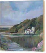 Thames River England By Mary Krupa Wood Print