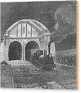 Thames Tunnel: Train, 1869 Wood Print