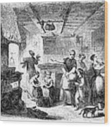 Thanksgiving, 1855 Wood Print