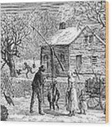 Thanksgiving, 1882 Wood Print
