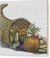 Thanksgiving: Cornucopia Wood Print