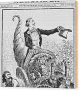 Thanksgiving Parade, 1887 Wood Print