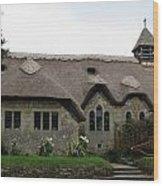 Thatched Church Wood Print