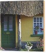 Thatched Cottage, Adare, Co Limerick Wood Print
