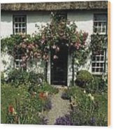Thatched Cottage, Carlingford, Co Wood Print