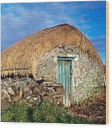 Thatched Shed, St Johns Point, Co Wood Print