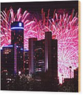 The 54th Annual Target Fireworks In Detroit Michigan Wood Print