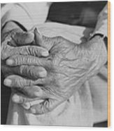 The Aged Hands Of Mr. Henry Brooks Wood Print by Everett