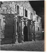 The Alamo At Night Wood Print