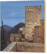 The Alcazaba The Alhambra Wood Print