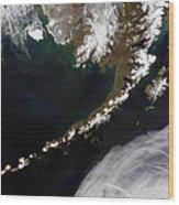 The Aleutian Islands And The Alaskan Wood Print