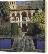 The Alhambra Palace Of The Partal Wood Print
