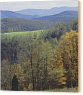 The Allegheny Front, North Fork Wood Print