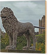 The Alnwick Lion Wood Print