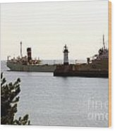The Alpena Ship Wood Print