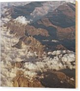 The Alps, Aerial Photograph Wood Print