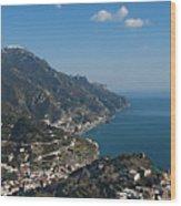 The Amalfi Coast From Ravello Wood Print