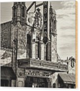 The Ambler Theater In Sepia Wood Print