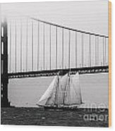 The America And The Golden Gate Wood Print by Patty Descalzi