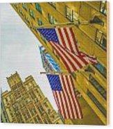The American Flag Wood Print
