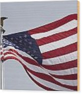 The American Flag Wood Print by Tim Laman