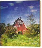 The Amish House Wood Print