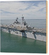 The Amphibious Assault Ship Uss Wasp Wood Print