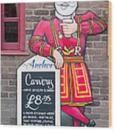 The Anchor Pub Sign Wood Print