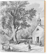 The Ancient Oak Wood Print by Granger