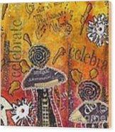 The Angel Brigade - Cropped Version Wood Print