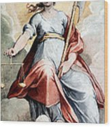 The Angel Of Justice Wood Print