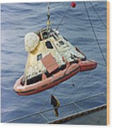The Apollo 8 Capsule Being Hoisted Wood Print