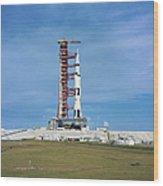 The Apollo Saturn 501 Launch Vehicle Wood Print