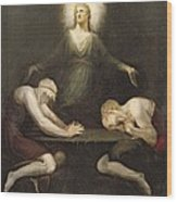 The Appearance Of Christ At Emmaus Wood Print